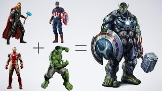 40 Marvel & DC Fusion Characters