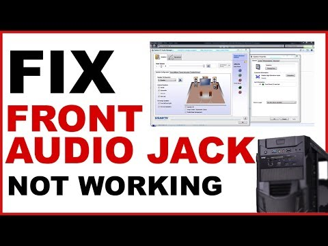 Fix Front Audio Jack not working On Windows PC | Front headphone jack not working