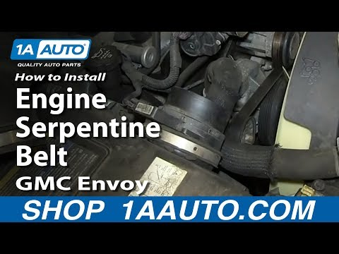 How To Install Replace Engine Serpentine Belt V8 5.3L GMC Envoy and XL XUV