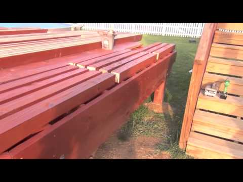 Pool Deck Building: Staining