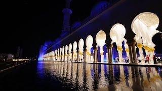 Sheikh Zayed Grand Mosque, Abu Dhabi at Night  4K