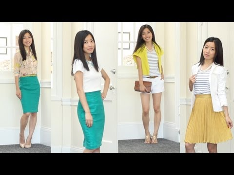 Summer Fashion Favorites for Work & Casual: Jewel Tone Skirt & Stripes
