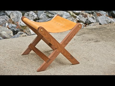 Modern Walnut and Leather Stool | How To Build - Woodworking
