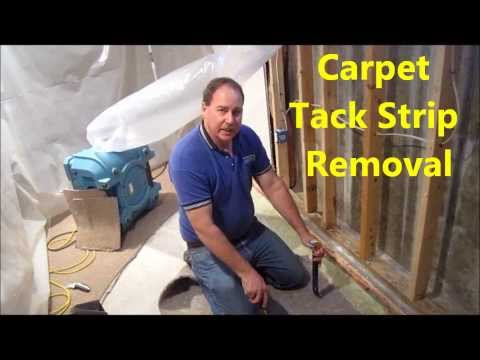 How To Remove Carpet Tack Strip From Concrete