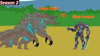 GIPSY AVENGER Vs Mega Kaiju Hakuja Lever 6 - Pacific Rim 2 Battle (Part 4)[HD]