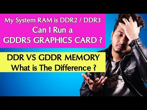 Can I Use DDR5 Graphics Card With a DDR2 Or DDR3 RAM Motherboard ? DDR VS GDDR Memory (Hindi)
