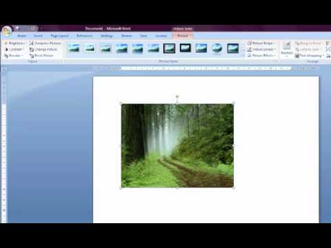 How to insert and Edit Images in Word 2007