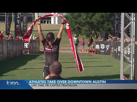 Athletes take over downtown Austin for annual CapTex triathlon