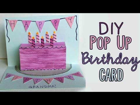 DIY Pop-Up Birthday Card 🎂