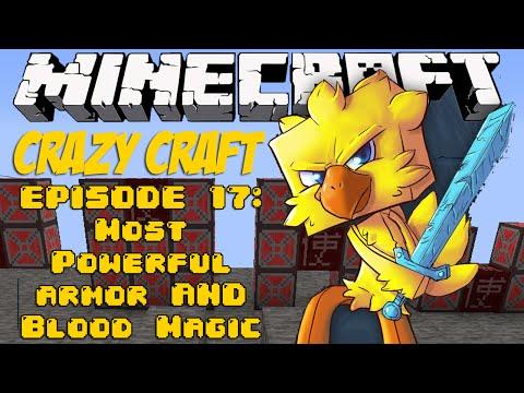 Minecraft Crazy Craft Episode 17: MOST POWERFUL ARMOR & BLOOD MAGIC