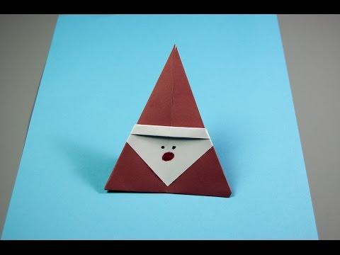 🎅 Easy Origami Santa Claus   DIY Christmas 🎅