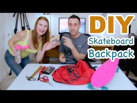 DIY Custom Skateboard Backpack for Penny Nickel Board