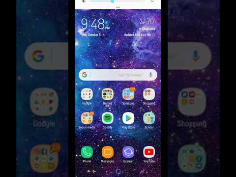 Music artwork on lockscreen Galaxy s8