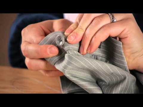 How to Sew a Button on Male Dress Pants : Buttons & Sewing Tips