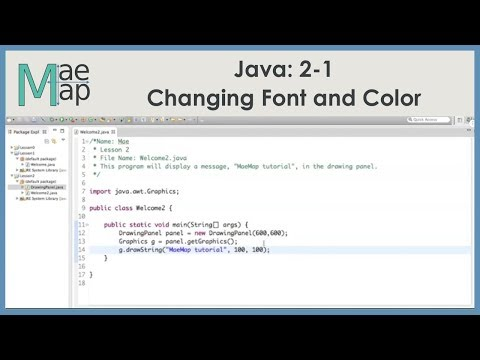 Java: 2-1 Changing Font and Color