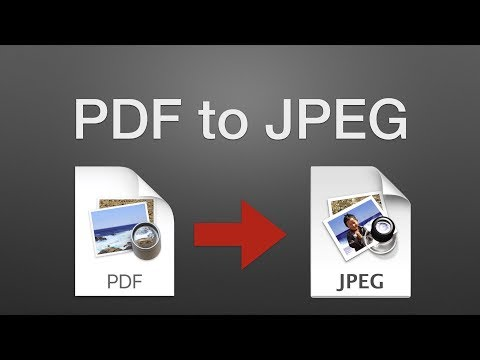 How to Convert a PDF to a JPEG on a Mac