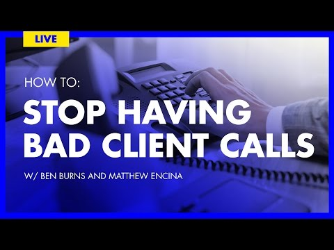 🔴 How to Handle Bad Client Calls | The Futur Live