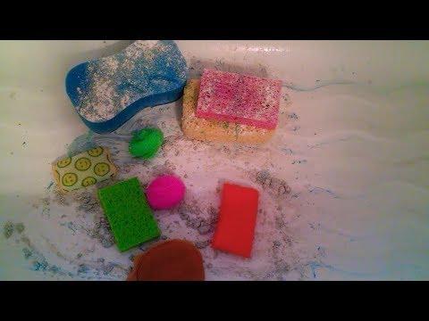 SUPER SUDSY BATHTUB SCRUBBING! w/ Ajax, Sparkling Wave Pine-Sol, Dawn & Lots Of Sponges! | ASMR