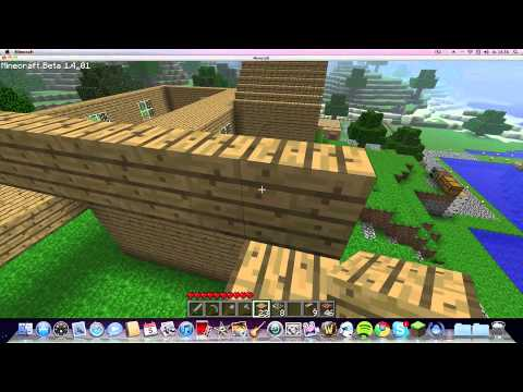 Minecraft  Tutorial - How to make a Roof / Stairs / Chair