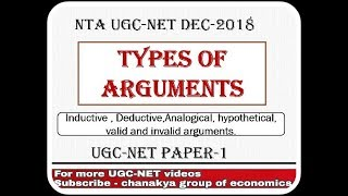 Types of Arguments for UGC-NET Paper 1