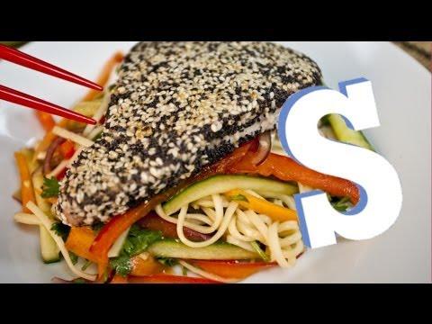 Wasabi Tuna & Noodle Salad Recipe - SORTED