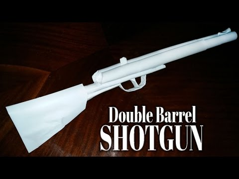 How to make a paper double barrel shotgun that shoots