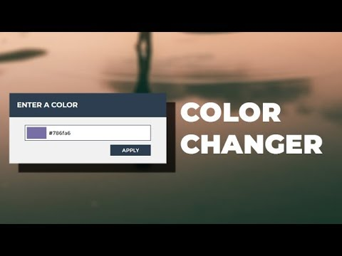 Create a background color changer using HTML CSS & JQuery