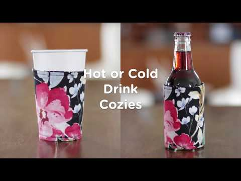 Hot and Cold Drink Cozie Tutorial
