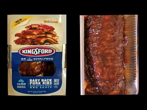 Kingsford Fully Cooked Baby Back Ribs - WHAT ARE WE EATING??