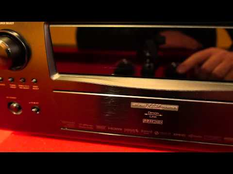 Denon avr-4810 receiver front face flap closed in 4k