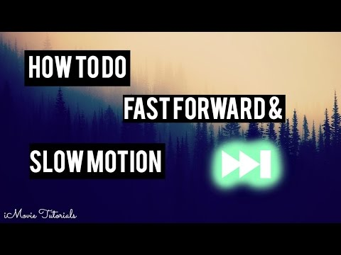 How to Fast Forward or Slow Motion on iMovie | iMovie Tutorials