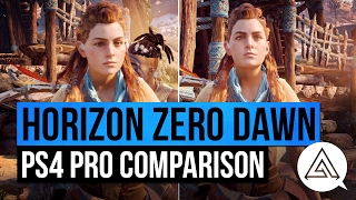 Horizon Zero Dawn | PS4 Pro vs PS4 Gameplay Comparison