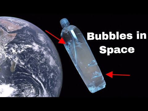 Which Way do Bubbles Float in Space? Zero Gravity Bubbles in Water Drop Experiment!