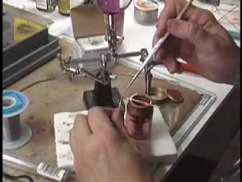 How to solder copper wire joints