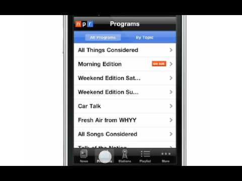 Welcome to the NPR News iPhone App!