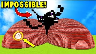 EXPLODING TNT WITHER STORM BOSS MINECRAFT TROLL!