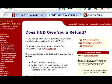 How to find & Collect Your HUD/FHA Mortgage Insurance Refund
