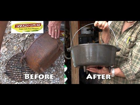 Cast Iron Dutch Oven Grill Restoration - Evapo-Rust Team Fitzgerald