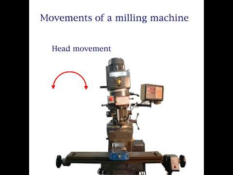 What are the movements of the manual vertical milling machine