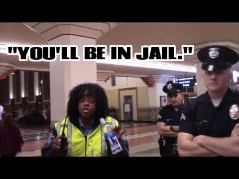 1st Amendment Audit, LA Union Station: Threatened With Jail