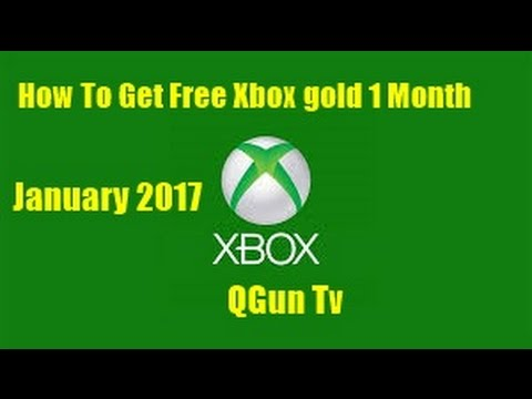 How to get Free xbox live gold 1 Month Unlimited codes Working January 2017