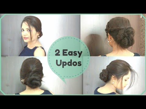 2 Easy Updo Hairstyles★ Elegant Summer Buns for frizzy and Unmanageable hairs