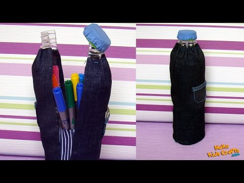 How to make a Plastic Bottle Pencil Case?