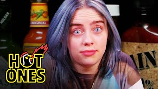 Download Billie Eilish Freaks Out While Eating Spicy Wings | Hot Ones Video