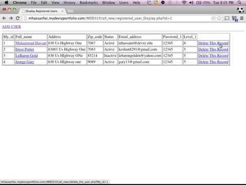 Delete from Database using Dreamweaver