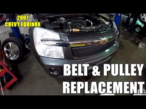 How to Replace Belt Idler Pulley & Tensioner 2005-2009 Chevy Equinox