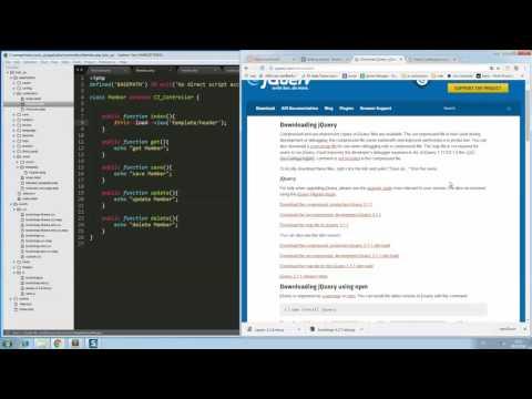 สอน php , codeigniter , การสร้าง template CI EP 2 #SP