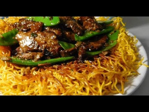Cantonese Beef with Crispy Noodles