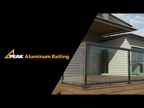 Peak Aluminum Railing - Large Glass Installation