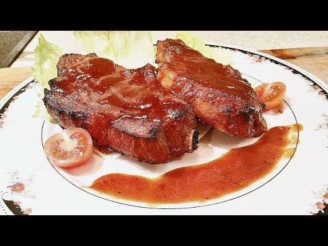 как приготовить отбивное мясо свинина в духовке